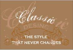 Klassisches Plakat Stockbild
