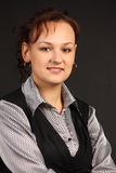 Klassisches Portrait des Mädchens Stockfotografie