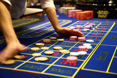 Klassisches Roulettespiel Stockbild