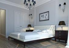 Klassisches Schlafzimmer Stockfotografie