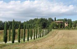 Klassisches toskanisches Bauernhaus Stockfotos
