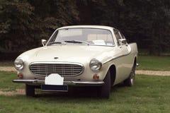 Klassisches weißes Auto Stockfoto
