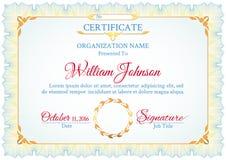 Klassisches weißes Zertifikat lizenzfreie abbildung
