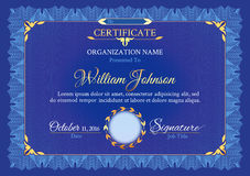 Klassisches weißes Zertifikat stock abbildung