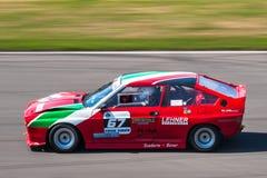 Klassisk Alfa Romeo tävlings- bil Royaltyfria Foton