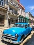 Klassisk amerikansk bil för tappning i Havana Cuba arkivfoton