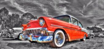 Klassisk amerikansk 50-tal Chevy Arkivfoton