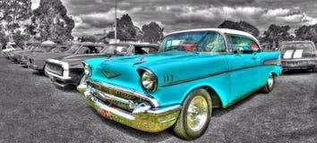 Klassisk amerikansk 50-tal Chevy Arkivbild