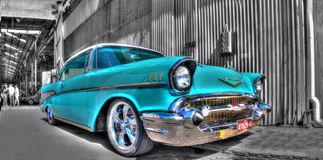 Klassisk amerikansk 50-tal Chevy Arkivbilder