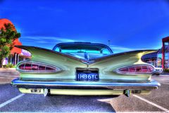 Klassisk amerikansk 50-tal Chevy Impala Arkivbild