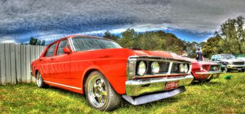Klassisk australisk 70-tal Ford Falcon Royaltyfria Bilder