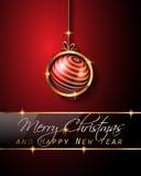 Klassisk bakgrund för jultappning med bollar och stjärnaljus royaltyfri illustrationer