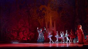 Klassisk balett som sover skönhet arkivfilmer