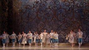 Klassisk balett som sover skönhet stock video