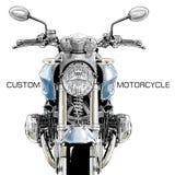 Klassisk beställnings- motorcykel Royaltyfria Bilder