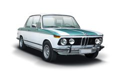 Klassisk bil BMW 2002 Arkivbild