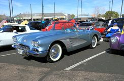 Klassisk bil: Chevrolet Corvette cabriolet 1958 Royaltyfri Bild