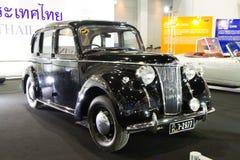Klassisk bil för Lanchester LD10 tappning på expo för Thailand Internationalmotor Royaltyfri Foto