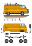 Klassisk bilreservdel Arkivfoton