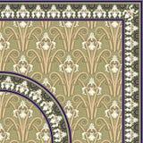 klassisk blom- rammodell stock illustrationer