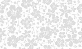 Klassisk blom- sömlös modell för enkel kontur Blommaprydnadbakgrund Fotografering för Bildbyråer
