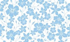 Klassisk blom- sömlös modell för enkel kontur Blommaprydnadbakgrund Arkivbild