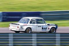 Klassisk BMW tävlings- bil Arkivfoton