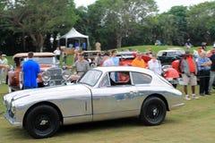 Klassisk brittisk sportbilkörning på gräs Royaltyfri Fotografi
