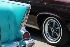 Klassisk chevy tailfin Arkivfoton