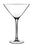 klassisk contrast glass höga martini över white stock illustrationer