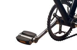 Klassisk cykelpedal Fotografering för Bildbyråer