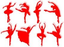 klassisk dansaresilhouette Royaltyfria Bilder