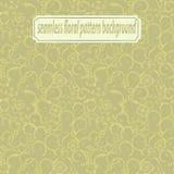 Klassisk dekorativ sömlös vektorpatterne för tappning Stiliserad guld blommar, krullar och sidor på en ljus beige bakgrund royaltyfri illustrationer
