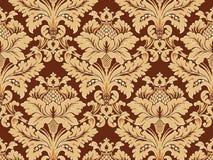 klassisk dekorativ wallpaper Arkivbilder