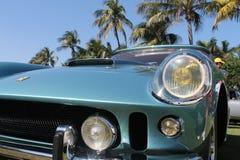 Klassisk detalj för Ferrari sportbilhörn Arkivfoto
