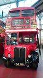 Klassisk dubbel däckare av London Arkivfoto