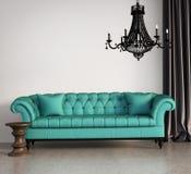 Klassisk elegant vardagsrum för tappning Royaltyfri Fotografi