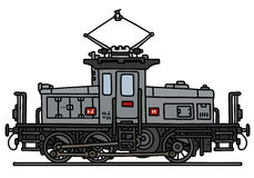 Klassisk elektrisk lokomotiv Arkivfoto