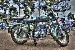 Klassisk engelsk byggd kunglig Enfield motorcykel Fotografering för Bildbyråer