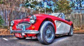 Klassisk engelskaAustin Healey cabriolet Royaltyfria Bilder
