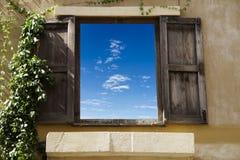 Klassisk fönsterhimmel Royaltyfri Fotografi