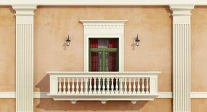 klassisk facade Arkivbilder