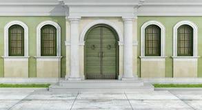 klassisk facade royaltyfri illustrationer