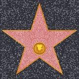 Klassisk filmkamera för stjärna (Hollywood går av berömmelse), Royaltyfria Bilder