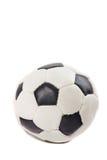 Klassisk fotbollboll som isoleras på vit bakgrund Arkivbilder