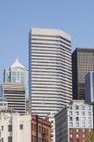 Klassisk gammal tegelstenbyggnad i Seattle Royaltyfri Fotografi