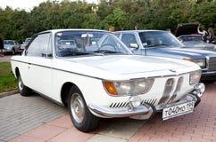 klassisk gammal white för bil Fotografering för Bildbyråer