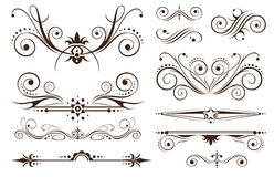 klassisk garneringdesignprydnad stock illustrationer