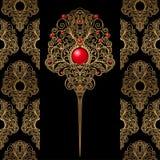 klassisk garneringwallpaper för bakgrund Royaltyfri Bild