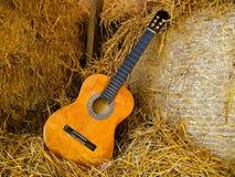 Klassisk gitarr Fotografering för Bildbyråer
